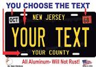 New Jersey Personalized Custom License Plate Car Motorcycle Bike - BLACK