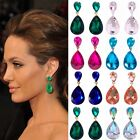 Clips Earrings Celebrity Inspired By Angelina Jolie Red Carpet Look Long pageant