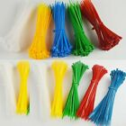 Multicolor New Self-Locking Nylon Plastic Cable Ties Zip Fasten Wire Wraps Strap