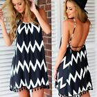 Women Sleeveless Boho Short Maxi Dress Evening Party Dress Summer Beach Dresses