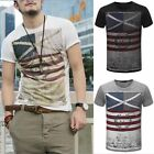 Fashion Mens Summer Casual Short Sleeve T-Shirt Tops O-Neck Cotton Tees Shirt