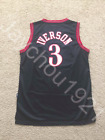 Allen Iverson Philadelphia 76ers Black Swingman Sewn On Jersey NWT