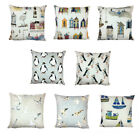 "Beachcomber Cushion Covers 16""x16"" 100% Cotton, Zipped Made in UK"