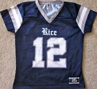 RICE OWLS LADIES FOOTBALL JERSEY NCAA #12 NEW LADIES X-SMALL, SMALL, OR XL
