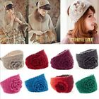 NEW WHOLESALE WOMEN KNITTED ROSE HEADBAND HAIR BAND SKI HAT