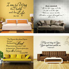 Bible Verse Wall Decals Christian Recite Vinyl Wall Art Stickers Scripture Decor