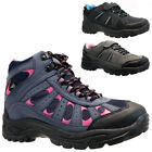 LADIES VELCRO TRAIL WINTER WALKING HIKING WINTER WORK ANKLE BOOTS SHOES TRAINERS