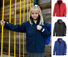 Girls Waterproof Windproof Breathable Soft Shell Jacket with Inner Fleece Layer