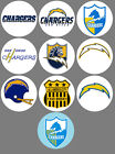 """San Diego Chargers Set of 10 Buttons or Magnets Set 1.25"""" NEW $5.0 USD"""