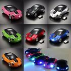 Wireless Mouse 2.4Ghz Car Mice for Laptop PC Cordless +2.0 USB Receiver