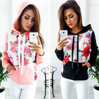 Women's Long Sleeve Hoodie Sweatshirt Jumper Hooded Pullover Tops Blouse Coat