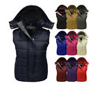 CLEARANCE NEW WOMENS LADIES HOODED QUILTED GILET BODYWARMER JACKET SIZES 8-18