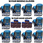 Boxing Gloves Sparring Punching Bag Muay thai Kickboxing 10 Pair Club Deal BLUE