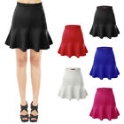 [final Sale]doublju Womens Stretchy Scuba Flared Mermaid Mini Skirt