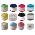 Mercerized Cotton Cord Thread Yarn for Embroidery Crochet Knitting Lace Frugal