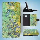 IRISES BY VAN GOGH FLIP WALLET CASE COVER FOR SAMSUNG GALAXY S7 EDGE