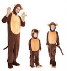 Adult/Kid Animal Monkey Halloween Cosplay Costume Jumpsuit Fancy Dress Outfits
