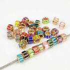 10pcs Quality Glass Golden Plated Charms Beads Fit Women's DIY Jewelry Bracelet