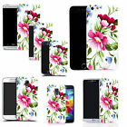 hard durable case cover for samsung & other mobile phones - green flower