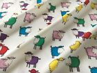 Sheep Print On White 100% Cotton Fabric Craft Quilt FQ - Per Yard *Upto 30% OFF*