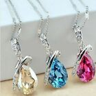 """Fashion Jewelry with Crystal Beautiful Cute """"I Miss You"""" Teardrop Necklace"""
