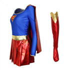 Fancy Super Woman Adult Halloween Costume Supergirl Lady Out