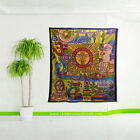 Psychedelic Sun Face fish tapestry bohemian hippie Bedspread wall hanging decor