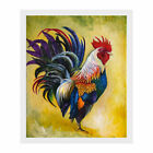 Купить Watercolor Rooster Canvas Print Wall Painting Picture Unframed Mural Home Decor