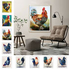 Watercolor Rooster Canvas Print Wall Painting Picture Unframed Mural Home Decor