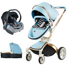 Baby Stroller 3 in 1 travel system Bassinet Combo Pushchair folding car seat new