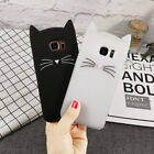 3D Cute Cartoon Cat Soft Silicone Case Phone Cover Skin For Samsung For iPhone