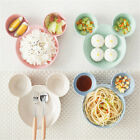 Wheat Straw Children's Plate Cartoon Mickey Mouse Kids Bowl Dish Tray Tableware