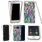 Shockproof 360° Silicone Clear case cover for many mobiles - design ref zx0791