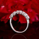 14k Solid White Gold Solitaire Eternity Band Stackable Ring Endless Wedding Band