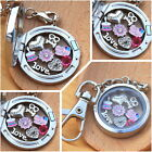 BIRTHDAY Gift  Floating Memory Locket keyring -30th 40th 50th  # mum Sister nana