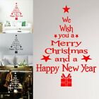Merry Christmas Happy New Year Removable Wall Stickers House Window Party Decors