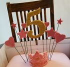 Handmade Sugar Edible Shapes Stars Hearts Numbers Cake Topper Spray