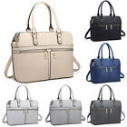 Ladies Fashion PU Leather Handbag Shoulder Bag Tote Bag Zipper Design Satchel
