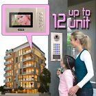 ZOTER SECURITY 4.3 inch Video Door Phone Intercom RFID System 2 - 12 Apartment