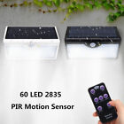 60LED 5in1 Solar Power PIR Motion Sensor Wall Light Outdoor Yard Lamp Waterproof