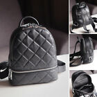 Quilted Real Leather Small Backpack Rucksack Daypack Travel bag Purse Cute Bag