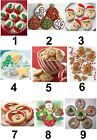 Christmas Cookies Small or Large Sticky White Paper Stickers Labels NEW