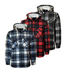 MENS SHIRT FUR LINED PADDED LUMBERJACK FLANNEL WORK JACKET WARM THICK CASUAL TOP
