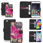 pu leather wallet case for many Mobile phones - pink poppy