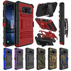 Shockproof Stand Holster Clip Hard Phone Case Cover for Samsung Galaxy S8 Active