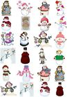24 Mixed Snow Lady Large Sticky White Paper Stickers Labels NEW