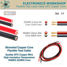 Quality Flexible Insulated OFC Copper Stranded Test Lead Cable Wire 18-22AWG