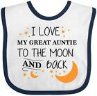 Inktastic I Love My Great Auntie To The Moon And Back Baby Bib Family You Aunt