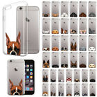 "For Apple iPhone 6 / iPhone 6S 4.7"" Animal Design TPU Clear Silicone Case Cover"