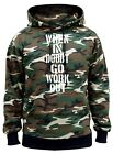 New Men's When In Doubt Go Workout Camo Hoodie Fitness Gym Bodybuilding MMA V408
